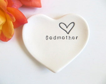 Godmother Gift, ring dish, wedding ring holder, black and white matte, handmade earthenware pottery, Gift Boxed, IN STOCK