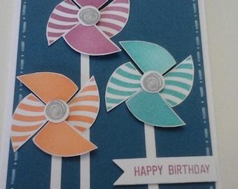 Pinwheel Birthday card