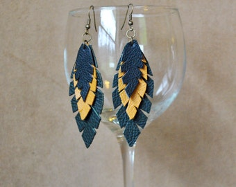 E09 Leather Earrings...FREE SHIPPING in US