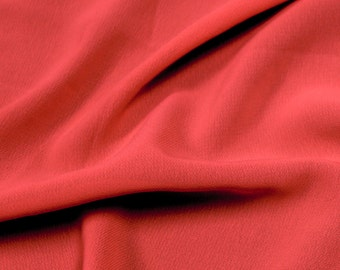 Coral Chic 59'' Poly Hi-Twist Chiffon Fabric  by the Yard, Chiffon Fabric, Wedding Chiffon, Lightweight Chiffon Fabric - Style 687