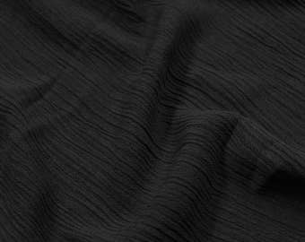 "Charcoal Dark 50"" Light- Weight Rayon Crepon PD Fabric by the Yard - Style 697"