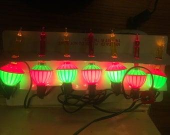 Christmas light vintage Bubbling Light set