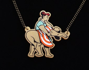 Fat and Happy: Dancing Girls Necklace