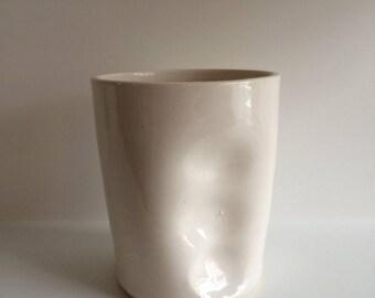 tumbler- dented mug in stock