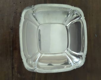 Vintage Reed and Barton Silverplate Square Bowl