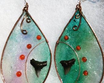 Carnelian and Shark Tooth Wings