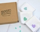 Personalised Handkerchief - wedding hanky - hanky for bride - mother of the bride handkerchief - 2nd wedding anniversary - bridesmaid gift