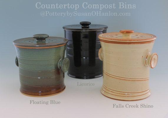 Countertop Compost Bin : Countertop Compost Bin Recycle Garbage Kitchen Scraps Coffee Grinds ...