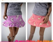 Sale 20% Off BJD MSD 1/4 Doll Clothing - Bunny Ruffle Skirt - Your Choice of 2 Colors