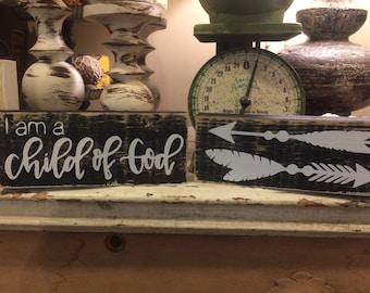 Distressed wood block sign set