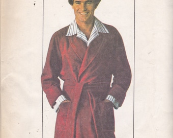 Simplicity 7741 Vintage Pattern Mens Robe Size 38-40
