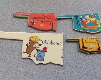 4 OKLAHOMA puzzle pieces lot