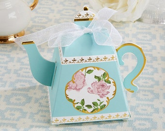 24 Tea Time Whimsy Teapot Favor Boxes bridal Shower Tea Party Favors Lady's Nightout Party