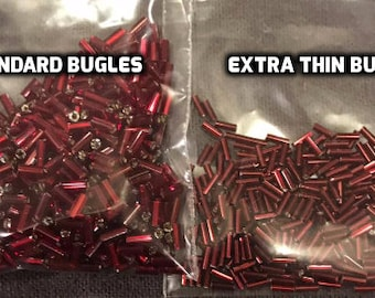 Custom Made Extra Thin Bugle Beads