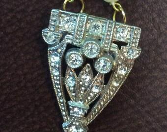 Vintage Dress Clip Necklace