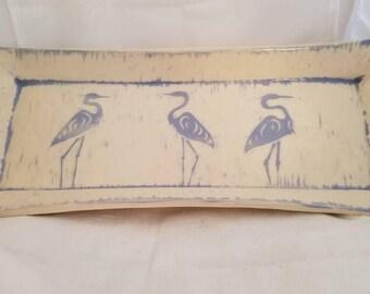 Great blue heron tray