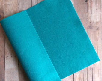Peacock Acrylic Felt Sheets or Circles, High Quality, Made in USA, Teal Felt, 5 9x12 Sheets or 30 Pack of 1 inch Circles, Quick Ship