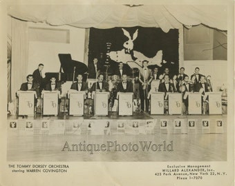 Tommy Dorsey orchestra on stage antique jazz photo