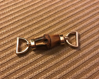 60mmx 17mm bamboo/ light gold snaffle hardwear, handbag and purses hardwear