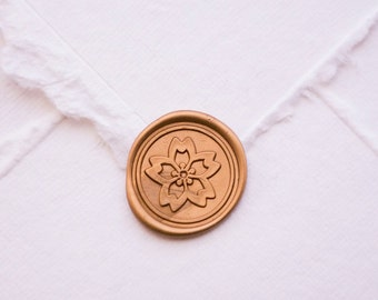 Cherry blossom wax seal, Sakura, flower wedding or birthday party