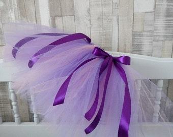 Tutu skirt purple and pink, tulle skirt for girls