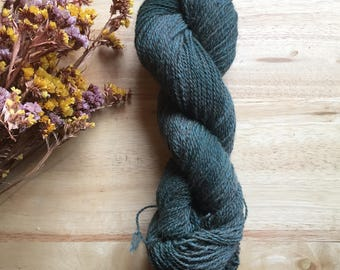 Alpaca Yarn - Hand dyed Deep green -  Alpaca and Wool Blend--Beautiful Color and Texture