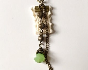 Eclectic Lace and Beads Charm Necklace