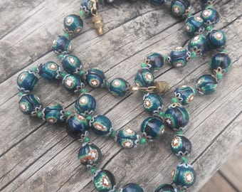 Cloisonne Hand Knotted Necklace