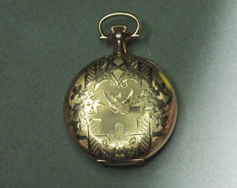 Antique Elgin Ladies Pocket Watch ca 1909 Gold Filled T674 - OFFERS CONSIDERED