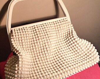 White plastic handbag - 1960's