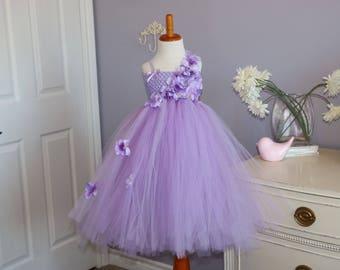 Lavender Hydrangea Tutu Dress