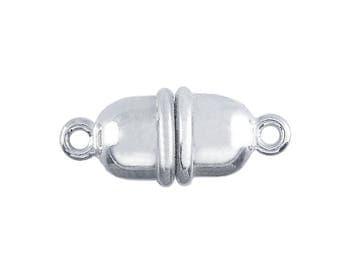 Argentium® Silver Magnetic Barrel Clasp - Substantial - 17.8mm x 8.2mm