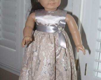 18 inch Doll Party Dress, Special Occasion, Fancy,Wedding,Prom, Holiday