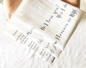 cotton anniversary gift for him, 2nd year anniversary, cotton anniversary gift, personalized cotton handkerchief, personalized anniversary