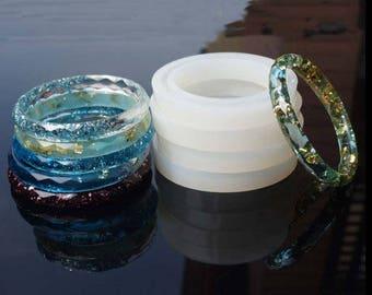 Bangle Silicon Mold - Flexible Resin Mold - Bracelet Gem Mold - DIY Jewelry Epoxy Mold - Rhombic Bracelet Mold - Resin Bangle Mold