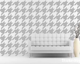 Houndstooth Pattern Mini Wall Decals Graphic Vinyl Sticker Bedroom Wall Home Decor