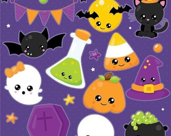 80% OFF SALE Halloween clipart, Jack o lantern clipart, Kawaii pumpkin commercial use, vector graphics, digital clip art, - CL1016