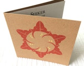SEEKER Luxury Card Letterpress with Gold Accents, Contemporary Arabic Calligraphy