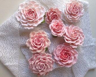 Rosy flower bride bridesmaid hairstyle Aligator clip
