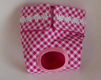 Dog Panties - Dog Clothing - Custom Dog Diaper - Female Dog Diaper - Pink Checks  - Doggie Diapers - Dog Britches - Custom Dog Panties
