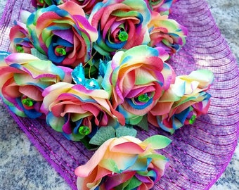 Dance recital bouquet gift rainbow roses