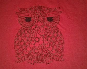 DIY Paint yourself a Owl T-shirt