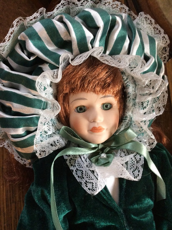 Vintage Southern Belles collection porcelain doll, the heritage mint, doll collector, vintage porcelain doll,  1996 southern belles doll
