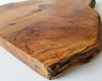 Natural Wood Serving Board- Charcuterie Board- Cheese Board- Maple Burl- Bread Board- Trivet- Food Safe- Live Edge- Platter- Free Shipping