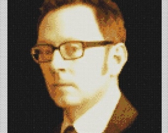 Michael Emerson - Harold Finch - Person Of Interest Portrait Counted Cross Stitch Chart