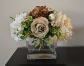 Reserved Order, Together Forever Floral Arrangement in Glass Vase with Acrylic Water, Victorian, Wedding Flowers