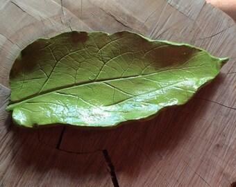 Leaf Plate Platter Pottery Ceramics Leaf Plate Platter Pottery Ceramic Handmade