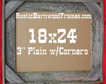 18x24 3 corner rustic barn wood aged weathered reclaimed primitive photo picture frame 18 x 24 unfinished repurposed barnwood frames