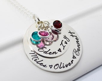 Mother of Five Personalized Necklace | Grandmother Custom Jewelry