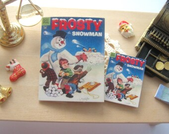 dollhouse comic frosty the snowman vintage inspired 12th scale or playscale lakeland artist Rainbowminiatures